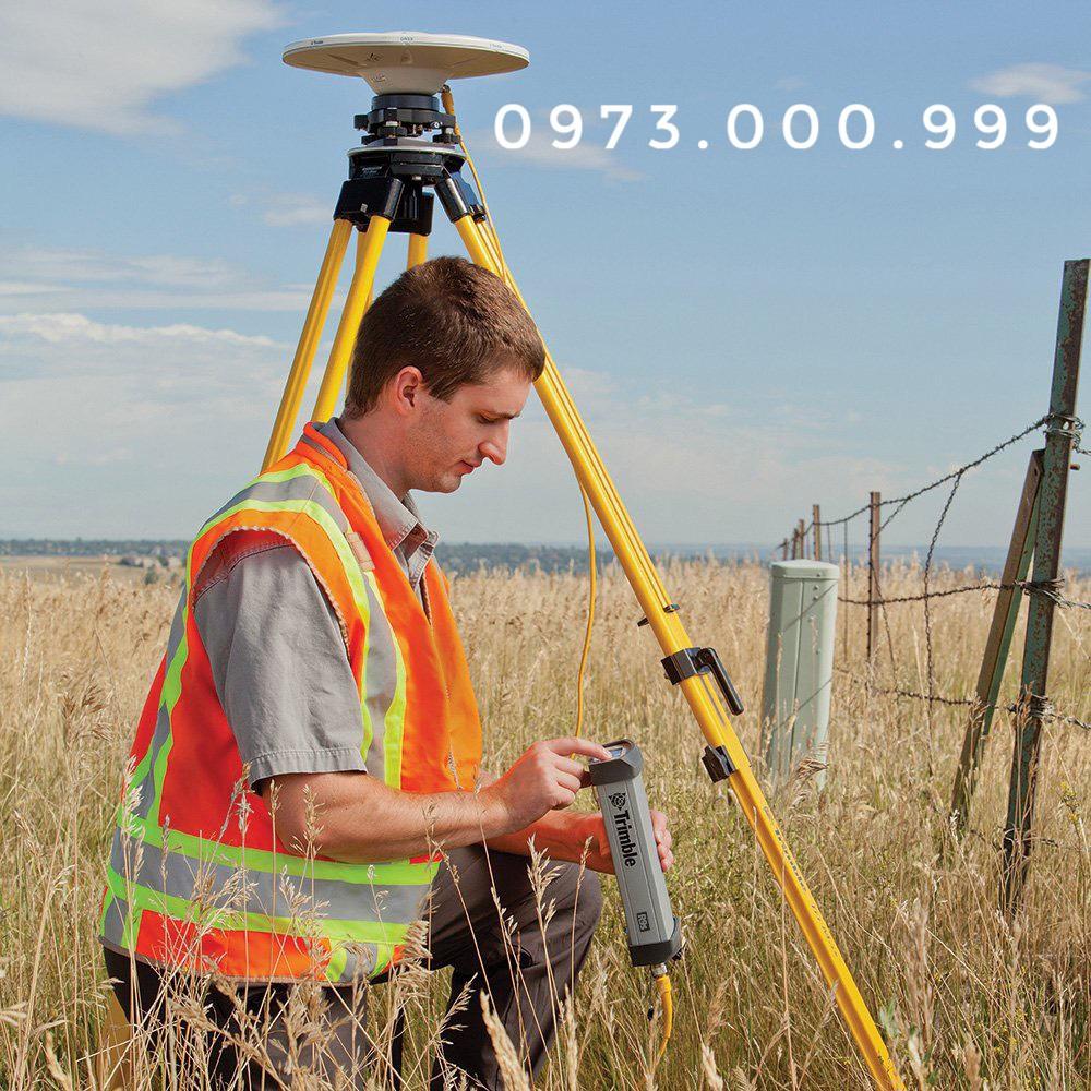 máy định vị gps rtk trimble r9s đang đo thực tế